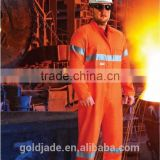 customized manufacture Fire Retardant Industrial Ultrasoft workwear uniform Reflective Tape overalls