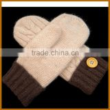 winter woollen baseball batting gloves for men