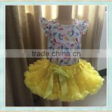 wholesale summer cute tutu skirt for girls, baby girl dancing wear/ kids pettiskirt