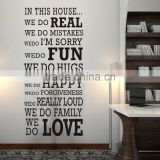 In This House We Do Real Home Wall Decal Quote Sticker Vinyl Art Sticker