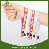 Your Logo avaibalbe Festival Fabric cloth wristbands Woven custom Wristbands Silk screen wristbands