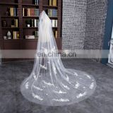 HSP1705 One Layer Three Meters Real Image Tulle Bridal Wedding Veil Long Cathedral