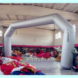 Customized Slivery Inflatable Arch with Blower for Event