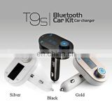 T9S Bluetooth Handsfree Car Kit MP3 Player with FM Transmitter and USB Charging Port