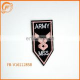 Army Embroidery Patch Love Designs Custom Badge Miss