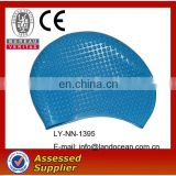 Custom waterproof silicone swimming cap
