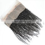 Top quality kinky curly 360 lace frotnal natural brazilian virgin hair for black women