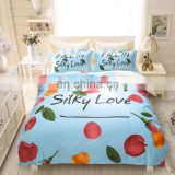 Wholesale 100% polyester warm environmental protection applique kids baby crib cartoon bedding set