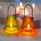 hanging glass hurricane wax holder candle jar lantern candle holder glass container for wax