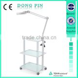 glass shelf trolley used beauty salon chairs sales