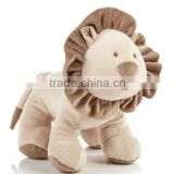 Adorable Stuffed Baby Toy Beige Lion/Soft Toy Lion in Soft Color/Plush Comfy Animal Baby Toy