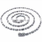 Stainless Steel Necklaces Oval Ball Bead Chain, Dog Tag Chains