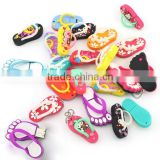 promotional gift cheap oem cheap rubber slippter shape key chain usb flash drives with logo
