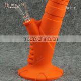 Competitive price silicone rubber water pipe with glass stem and bowl slid water pipe for smoking