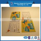 China supplier label printing paper calling card