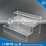 "acrylic plexiglass Display Riser Stand Toy Jewelry Showcase 3 steps 12""x10""x6"""