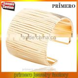 New Street Multilayer Punk Cuff Bracelets Alloy Gold Opened Hip Hop Bangles