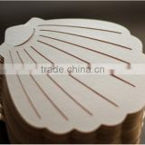 Lovely & personalized beach themed ivory sea shell-shaped laser cut wedding invitations                                                                         Quality Choice