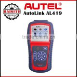 Auto car diagnostic Code Reader original Autel AutoLink AL419 Auto Scanner Update Online in stock