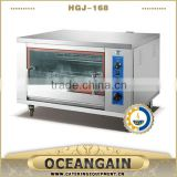 stainless steel gas rotisserie with glass front and rear & internal light & temperature control made in Foshan, China