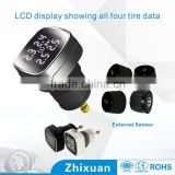 Unique colorful cigarette plug display tpms, tire pressure monitoring system, car wireless tpms