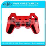 Red Chrome Faceplate for PS3 Wireless Controller Chrome housing for PS3 controller full shell and full set buttons