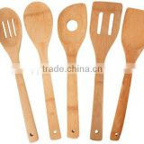 Hot sale Bamboo kitchen utensils , bamboo spoon set wholesale