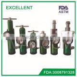 America CGA standard aluminum medical oxygen regulator/flowmeter