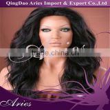 Hot Sale,5AGrade Factory Price Malaysian Wavy Hair Front Lace Wigs