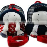 cute cartoom girl&boy plush baby bag/stuffed rag doll plush kids bag/custom baby plush bag