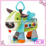 Colorful Plush Baby education Toy Plush Dog Toys with BB Sound