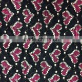 new strength polyester fabric africa lace bright colorful heart designed lace style for fashion garment