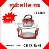 Red color oil free cooking electric halogen convection oven electric turbo hot air fryer