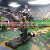life-size T-rex riding dinosaur for Jurassic Park