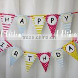 2015 new fashion hotsale handmade wholesale cheap custom fabric letters craft party supply kid decor felt happy birthday banner                                                                         Quality Choice