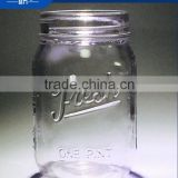 custom clear logo embossed glass canning mason jar wholesale                                                                         Quality Choice