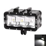 Waterproof diving speedlite LED light for Go Pro Hero3/3+/4, with maximum 30 meter underwater depth