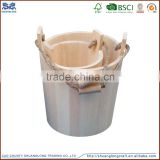 natural wholesale wooden ice barrel bucket wooden planter