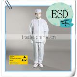 antistatic cleanroom garment OEM stand collar/turn-down collar CE standard