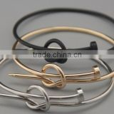 New Edition Stylish Nail Love Knot Bracelet Bangle                                                                         Quality Choice