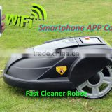 Smartphone App Control Robot Grass Cutter/programmable grass cutter machine price with Water-proofed charger
