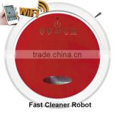 Newest WIFI smartphone App control wet and dry mopping automatic vacuume robot cleaner / home floor cleaning equipment