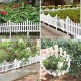 White Fence Plastic Fence Garden Fencing wholesale Foldable green garden fence good quality plastic garden gate