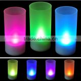 TTA-011Colorful LED flamess Sound controlled candle lamp