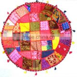 Bohemian Patchwork floor cushion pouf Vintage Indian Foot Stool Bean Bag Floor Pillow pouf