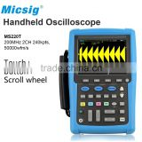 200MHz dual channels Maths Function Digital Storage Hand Oscilloscope for car