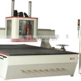 cnc woodworking machine center with drilling blade and saw