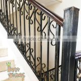 Manufacturer Alibaba wholesales prefab wrought iron stair railings, interior iron stair railing