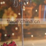 wholesale tall 5 arms candlelabra wedding table centerpiece &metal candle holder of home party decoration