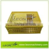 Leon Newest High Quality Plastic Poultry Transportation Cage Manufacturing for Chicken Cage